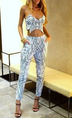 crop top & pant set