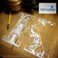 Falling Star Design by FallingStarCuts Falling Stars, Papercutting, Star Designs, Hand Drawn, Art Drawings, How To Draw Hands, Fairy, Hand Painted, Lettering