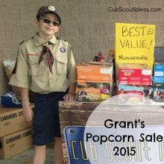 Use videos to help sell Cub Scout popcorn