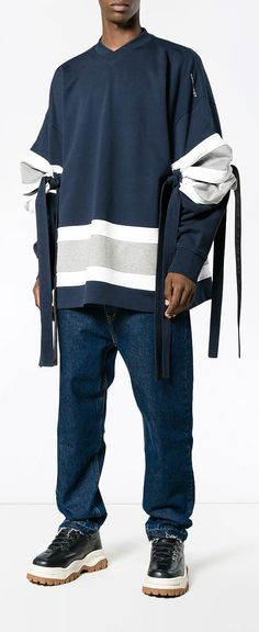 Y / PROJECT Oversized Elbow Tie Football Jersey, explore Y / Project on Farfetch now.