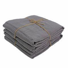 Bed Linen Flat Sheets Grey - Buy Linen Sheets Online – linenshed