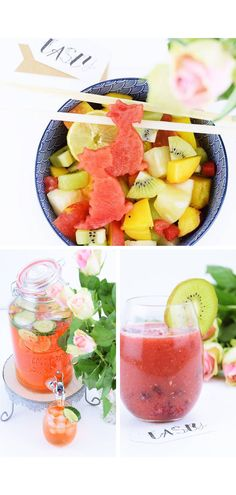 Easy party punch recipes for any occasion. Holiday party punch recipes, party punch recipes for kids, and all non-alcoholic punch recipes. I'm sure you'll find one of these simple punch recipes your family will love. Easy Alcoholic Punch Recipes, Punch Recipes For Kids, Non Alcoholic Punch, Drink Recipes, Cocktail Recipes, Brunch Recipes, Mint Smoothie, Strawberry Banana Smoothie, Strawberry Blueberry