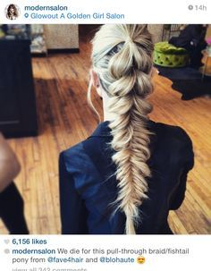 Pull through fishtail braid by @blohaute featured on @modernsalon. Fave 4 style sessions chicago. Www.blohaute.com