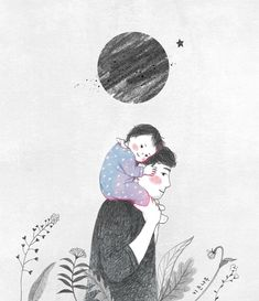 산그림 작가의 개인 갤러리 입니다. Clipart Baby, Baby Clip Art, Baby Art, Cute Sketches, Cute Drawings, Family Illustration, Illustration Art, Mother And Child Drawing, Family Drawing
