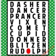 {free} reindeer names printable