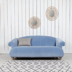 Mimi sofa in forget-me-not-blue from Jo&Co Home