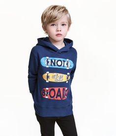 Sweatshirt with Printed Motif | Dark blue | Kids | H&M US
