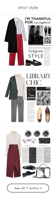 """""""strict style"""" by llemia ❤ liked on Polyvore featuring MANGO, Repetto, Nine West, Solace, Amina, Topshop, Maison Margiela, Diane Von Furstenberg, St. John and Marni"""