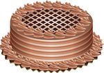 Clip Art Vector of vector chocolate cake - vector delicious chocolate cake csp8358606 - Search Clipart, Illustration, Drawings, and EPS Vector Graphics Images