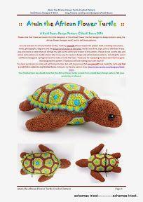 Heidi Bears - Atuin the African Flower Turtle Crochet Pattern - gurumi var - Picasa Web Albums