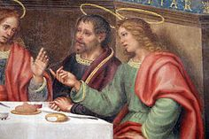 Giovanni Antonio Sogliani - Ultima Cena; dettaglio - Cenacolo di Candeli - affresco - 1510-1514 circa - Monastero di Candeli a Firenze - oggi facente parte della caserma dei Carabinieri.