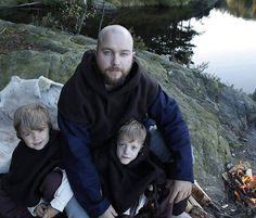 Viking familie #klesarven #friluftsliv #barnpåtur #agderviking