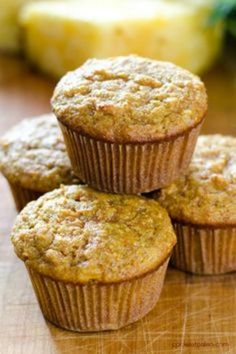 Carrot Pineapple Paleo Muffins are perfect for breakfast or a quick snack. And they are gluten-free, grain-free and refined sugar-free. A healthy recipe that even works for desserts - top with coconut butter and honey sauce!