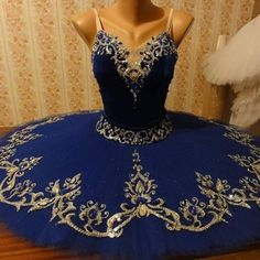 Russian Blue belongs to our new exclusive Russian Collection, and is designed and sewn by a famous Russian tutu maker, for Dancewear by Patricia. The color is deep dark blue and features an incredibly