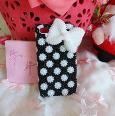 handmade full pearl fashion and  cute  protection for your iphone