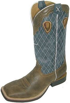 Twisted X Western Boots Mens Ruff Stock 10.5 EE Bomber Blue MRS0027