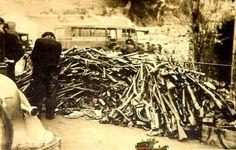 Le Perthus. Uno de los numerosos depósitos de armas requisadas a los milicianos..