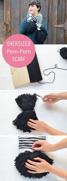 How cute is this oversized pom-pom scarf! Buying this at Anthro could cost you almost $200, but you make it yourself, you'll only spend $20. Save money, look stylish and follow this DIY: http://www.ehow.com/how_12343070_diy-oversized-pompom-scarf.html?utm_source=pinterest.com&utm_medium=referral&utm_content=freestyle&utm_campaign=fanpage