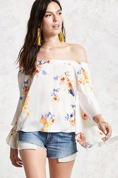Product Name:Contemporary Floral Top, Category:CLEARANCE_ZERO, Price:22.9