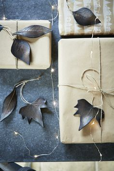 Six Burnished Copper Leaves | Cox & Cox