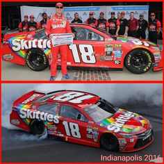 Kyle Busch wins pole and race @ Indianapolis 2016 NASCAR Sprint Cup Series