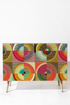 Sharon Turner New York Beauty Credenza from Deny Designs. Saved to Art by Sharon Turner. Funky Painted Furniture, Refurbished Furniture, Upcycled Furniture, Cheap Furniture, Furniture Makeover, Furniture Design, Furniture Outlet, Plywood Furniture, Modern Furniture