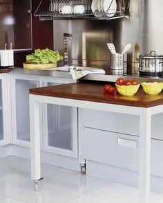 Uma ótima ideia para a cozinha! Pinterest:  http://ift.tt/1Yn40ab http://ift.tt/1oztIs0 |Imagem não autoral|