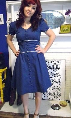 This Colette Ceylon dress is simply stunning! This blog post is just shots of the completed dress, without tutorial. The pattern is available from Colette.