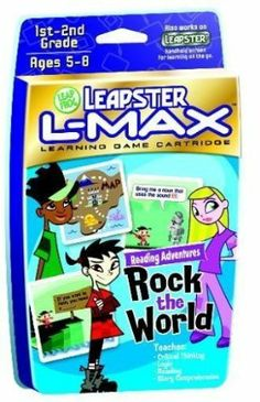 Leapster L-Max: Rock the World Reading Adventure by LeapFrog Toys. $3.94. Play four fun interactive games that teach spelling, parts of speech, advanced phonics and reading comprehension. Plugs into TV for bonus play. Band member Turbo Monkey is kidnapped, and it's up to you to help rescue him! Play four spelling games, then plug into the TV to search for Turbo Monkey. The more words you collect, the better your chances of finding him! Only the best spellers can crack t...