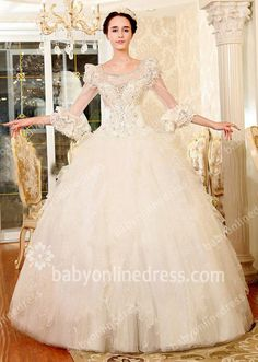 huge ball gown wedding dresses with crystals - Google Search