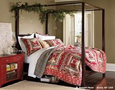 Decorating the bedroom for Christmas - cute. . . all snug in their beds!