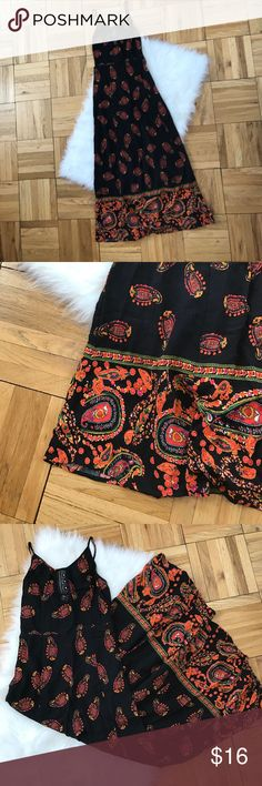 Gypsy Maxi Gorgeous slip on maxi dress. Has a little lace cutout in the front on the chest. No zipper or closure, just slip on. Not much room for bigger chests. Adjustable straps! Such a beautiful design! Band of Gypsies Dresses Maxi