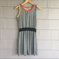Retro Mondrian 80's sleeveless midi dress Retro mod cloth! Straight out of the 1980's and moderately worn. So so so phresh. Bundle some items for a discount! On Purpose Dresses