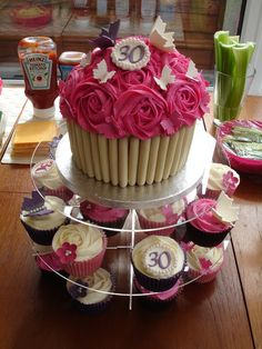 Image Detail for - ... giant cupcake and matching cupcakes for a 30th birthday, giant cupcake