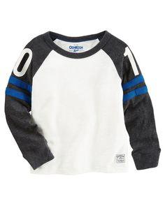 Baby Boy Varsity Raglan Tee from OshKosh B'gosh. Shop clothing & accessories…