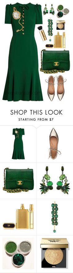 """""""Dolce and GABBANA"""" by thestyleartisan ❤ liked on Polyvore featuring Dolce&Gabbana, Sigerson Morrison, Chanel, Erickson Beamon, Tom Ford, Dominique Denaive and Bobbi Brown Cosmetics"""