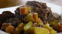 I have made: SLOW COOKER BEEF POT ROAST.  This was tasty. I add more thyme and rosemary towards the end and I add red wine to the vegges and simmer.  All in all, this was a good recipe served with a side of mashed potatoes.