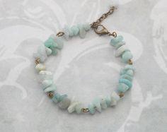 Amazonite Chip Gemstone Bracelet with por StarlightGemstones