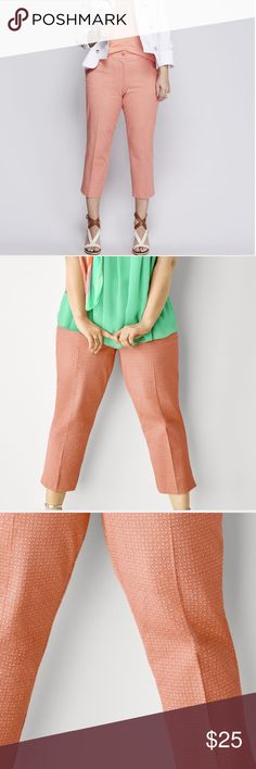Printed Lena cotton smart stretch crop NWT Smart stretch cotton technology. Hugs in the right places and stretches where you need the room. Lane Bryant Pants Ankle & Cropped