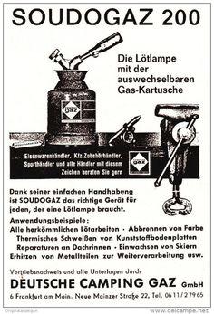 Original-Werbung/ Anzeige 1963 - LÖTLAMPE SOUDOGAZ / LABOGAZ / DEUTSCHE CAMPING…