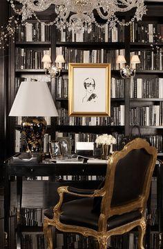 Oro y negro interior | Sigue el tablero Pasión por los interiores en #negro y #oro de Ámbar ...