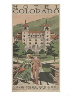 Shop for Glenwood Springs, Colorado - Hotel Colorado - Vintage Travel Advertisement (Keepsake Tin) - Keepsake Tin. Get free delivery On EVERYTHING* Overstock - Your Online Home Decor Outlet Store! Glenwood Springs Colorado, Vintage Hotels, Vintage Travel Posters, Rocky Mountains, History, Prints, Art Print, Gallery, Black Wood