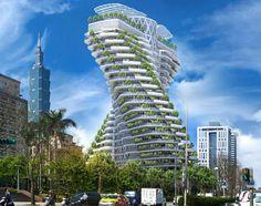 Agora Garden, une tour hélicoïdale dépolluante