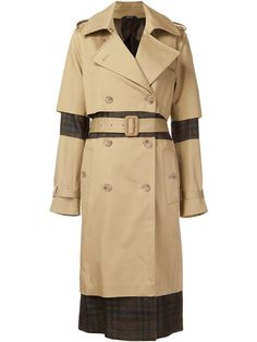 Maison Margiela check panel trench coat