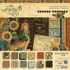 """Graphic 45 French Country Paper Pad, 12"""" x 12"""""""
