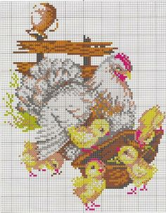 5 of 6 Rooster Cross Stitch, Chicken Cross Stitch, Cross Stitch Kitchen, Cross Stitch Needles, Cross Stitch Animals, Cross Stitch Pillow, Stitch Book, Cross Stitch Charts, Christmas Embroidery Patterns