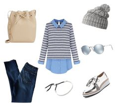 """Casual Monday"" by ciaci-1 on Polyvore featuring 7 For All Mankind, Mansur Gavriel, Helly Hansen, Loeffler Randall, Monica Vinader, Ray-Ban, women's clothing, women's fashion, women and female"