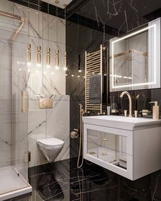Home Interior Drawing Bathroom Design Luxury, Modern Bathroom, Black Marble Bathroom, Concrete Bathroom, Cute Home Decor, Cheap Home Decor, Toilette Design, Interior Design Boards, Dream Bathrooms