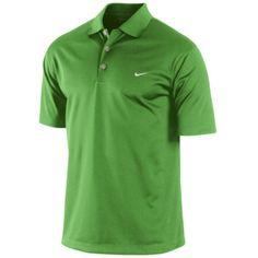 Green Nike Tech Polo Shirt