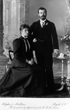 Tsarevich Nicholas and Princess Alix of Hesse, 1894.